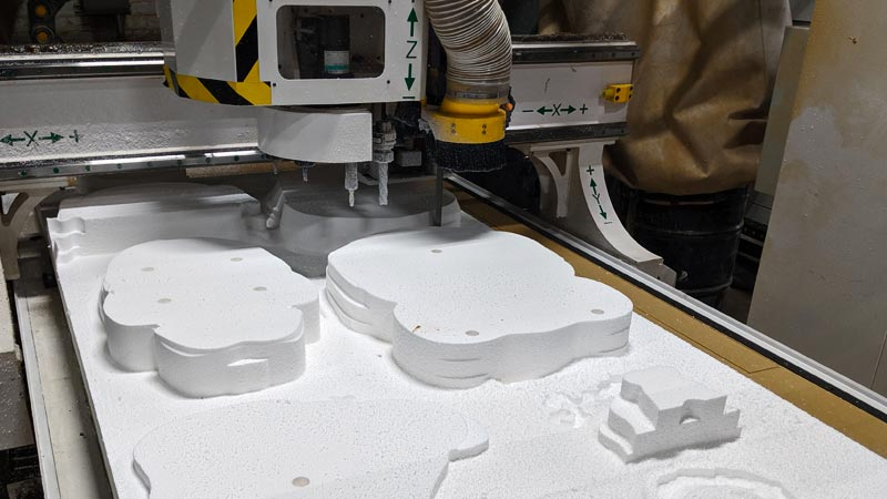 CNC router for carving foam