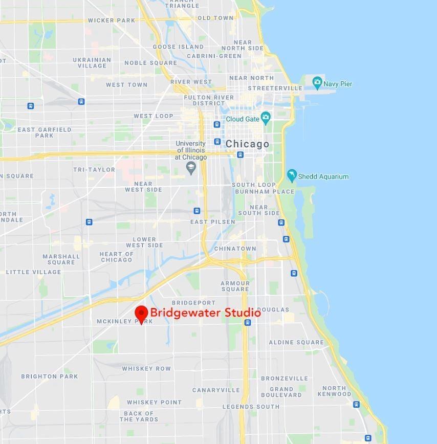 Bridgewater_Studio_location_map